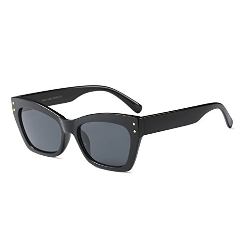 Sunglasses Vintage Cat marco Fashion women Negro Gris Men Brillante Sunglass Eye Inlefen rectangular Todo 8xqtXwYF