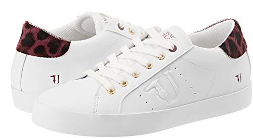 De Chaussures Jeans R290 Trussardi Rouge Gymnastique maculatobordeaux Femme 7779 rosso Pony Sneakers Detail ZwAaXaxUqB