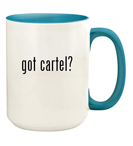 (got cartel? - 15oz Ceramic Colored Handle and Inside Coffee Mug Cup, Light Blue )