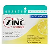 Quantum TheraZinc Cold Season Plus Lozenges Lemon - 14 mg - 24 Lozenges pack of -2 by Quantum Research