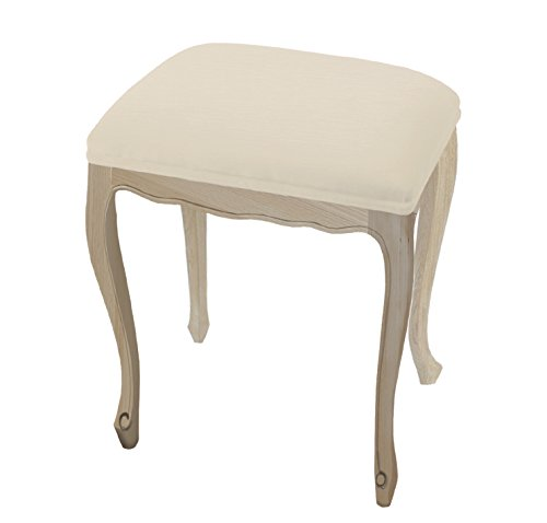 Tosel 1 Carine 1, Banc-Pouf, Madera, Tejido, Natural, 31 x 31 x 50 cm