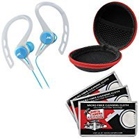 Sownd Bullet In-ear Noise-isolating Headphones with Microphone, Red / Blue