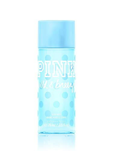 Victoria's Secret PINK Women's Wild & Breezy Body Mist 75 ml / 2.5 fl oz Travel Mini Spray -