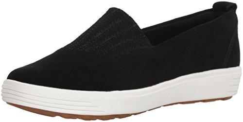 Europa Air - Skechers Women's Comfort Europa-Gored Slip Skech-Air Midsole and Classic Fit Sneaker, Black, 9 M US