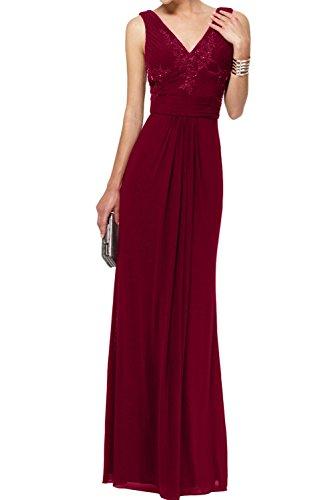 Ivydressing - Vestido - Estuche - para mujer rojo oscuro