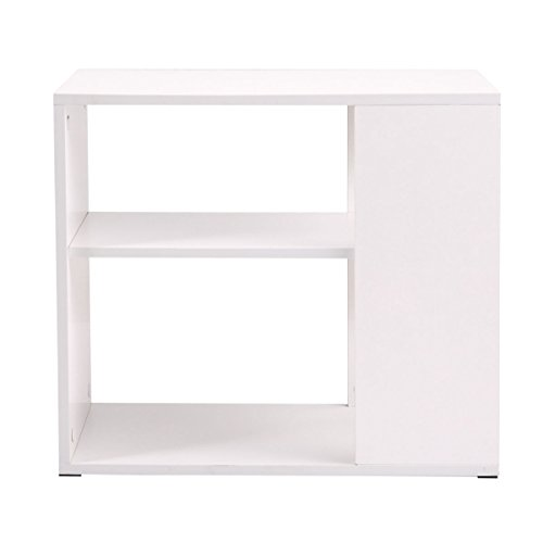 Side Sofa Table Coffee Tray Ottoman Couch Console Stand End Magazine Organizer White by Eramaix (Image #1)