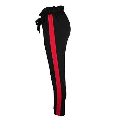Lunga Tuta Grau Eleganti A Strisce Cravatta Accogliente Alta Donna Inclusa Elastica Autunno Vita Pantaloni Primaverile Cintura Bolawoo Sportivi Mode Di Marca Farfalla Verticali Sq5BHH