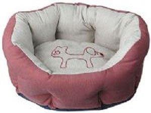 United Pets Dreams Burgundy Brown Pet Bed 46cm