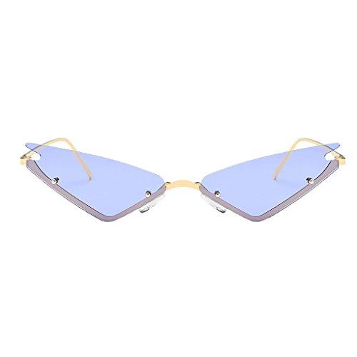 Triangular Rosado Sol Viaje Ede Vintaje Gato de de de Mujer para Hombre Lente Púrpura Espejo Conducción D Ojos DOLITY UV400 Gafa 1BHSSO
