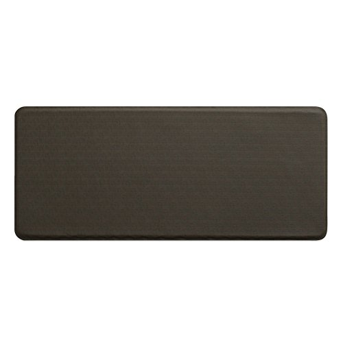 "Gray Anti Fatigue Mat - GelPro Classic Anti-Fatigue Kitchen Comfort Chef Floor Mat, 20x48"", Linen Granite Gray Stain Resistant Surface with 1/2"" Gel Core for Health and Wellness"