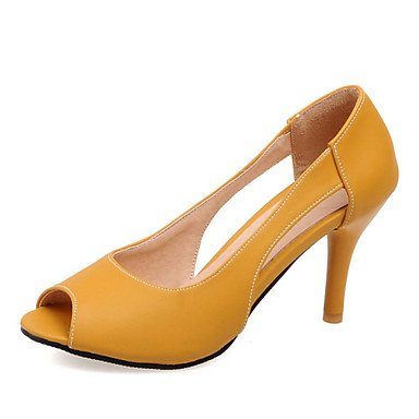 5 Toe 5 Blue Peep CN32 US3 EU33 Pink Heel Dress Heels Stiletto Shoes Women'S Zormey Yellow Casual UK1 zxqOwXRazf