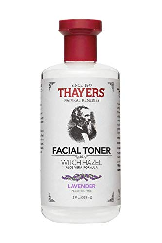Thayers Alcohol-Free Lavender Witch Hazel Facial Toner with Aloe Vera Formula – 12 oz
