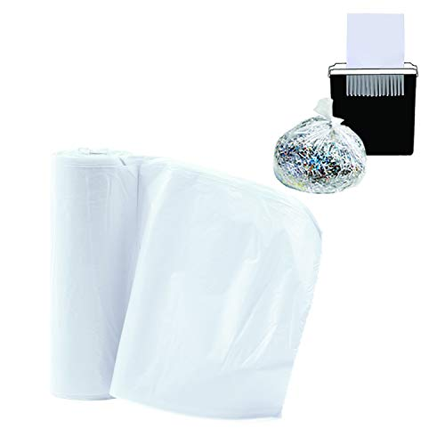 Upper Midland Products 50 Paper Shredder Clear Bags - Perfect Size for Most Paper Shredders up to 15 Gallons