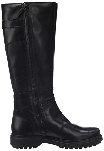 Hautes L Noir Geox black Asheely D C9999 Bottes Femme 4HxzOIq