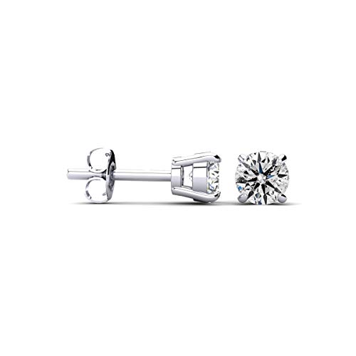 Sparkle Bargains 1/4 cttw 14k White Gold Round Diamond Stud Earrings (AGS Certified I-J, I1-I2)