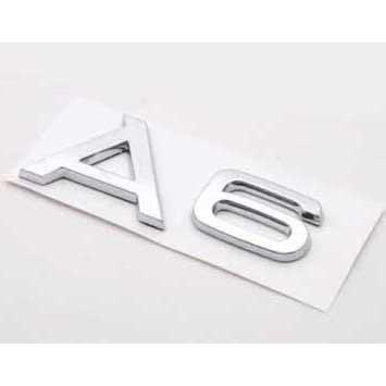 B223 Car Styling Accesorios cromado emblema adhesivo para Audi A6: Amazon.es: Coche y moto