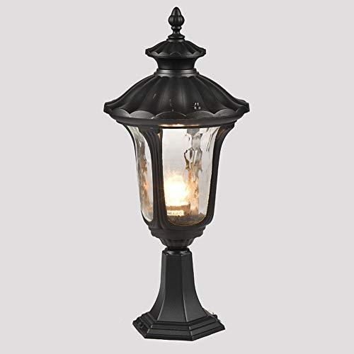 Wylolik Retro Outdoor Column Light Lawn Lighting Post Light Pier Porch Fence Lamp Oil Rubbing Bronze Finish 17