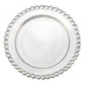 The original BEADED WINE PLATE crafted by Mariposa - by Mariposa ()
