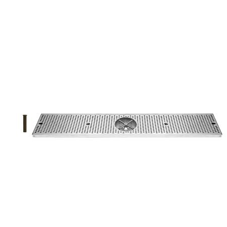 UBC DTU36SSR 36 Inch StainleSurface Mount Drip Tray with Rinser, N/A