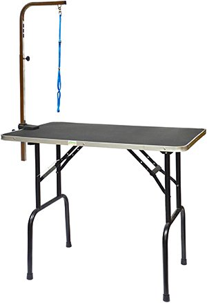 Go Pet Club Pet Dog Grooming Table with Arm, (Grooming Arm)