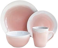 American Atelier 6693-16-RB Oasis Set Dinnerware Pink  sc 1 st  Amazon.com & Amazon.com: Pink - Dinnerware Sets / Dining \u0026 Entertaining: Home ...