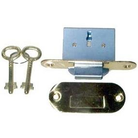 Roll Top Desk Lock - LRT-6 BRASS FULL MORTISE ROUND ROLL TOP DESK LOCK & SKELETON KEYS + FREE BONUS (SKELETON KEY BADGE)