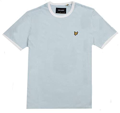 Lyle blue Scott shirt Homme Ringer T Blue snow Z496 amp; Shore White gg0qra