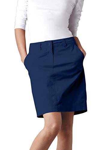 (Ellos Women's Plus Size Chino Skort - Navy, 30)