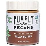 Purely Pecans Nut Butter - Gluten-Free, Non-GMO, Keto, Paleo, Kosher, Vegan - Creamy Pecan Butter - 10oz Nuttin But Pecans