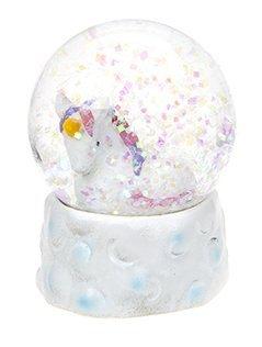 45mm Unicorn Snow Globe Decoration - WHITE - Gigi Queen Adventures in Unicorn (Unicorn Snowglobe)