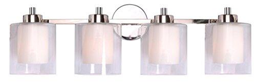 Kenroy Home 93494PN Orienta 4 Light Vanity, Chrome Finish ()