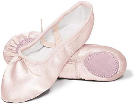 Toddler//Little Kid//Big Kid Girls Pink Ballet Dance Shoes Split Sole with Satin Ballet Slippers Flats Gymnastics Shoes