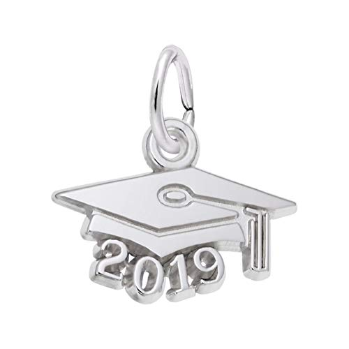Rembrandt Charms Sterling Silver Graduation Cap 2019 Charm