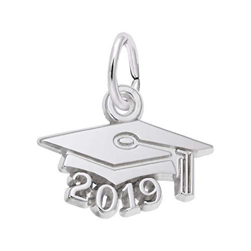 (Rembrandt Charms Sterling Silver Graduation Cap 2019 Charm)