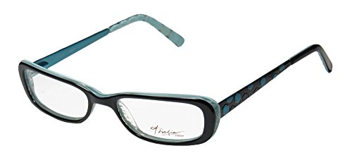 Thalia Abeja Womens/Ladies Rxable Latest Collection Designer Full-rim Eyeglasses/Eyeglass Frame (48-16-135, Black / Light Blue)