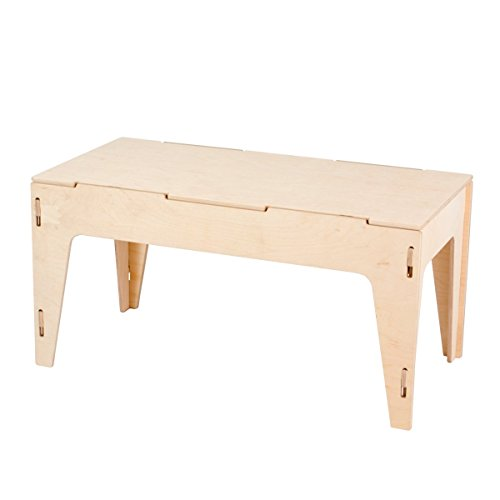 Unfinished Wooden Storage Bench with Legs, American Made (Natural All Wooden Bench Storage)