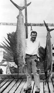 Photo of Author Ernest Hemingway Fishing Key (Fishing Photograph)