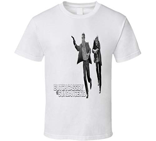 Butch Cassidy and The Sundance Kid Western Movie t Shirt Robert Redford Paul Newman Film Shirts White