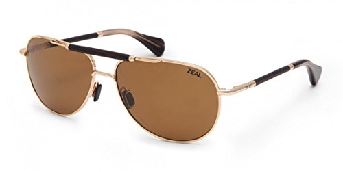 Zeal Optics Barstow Sunglasses - Polished Gold Frame with Copper Lens (Gold Anchor Polished)