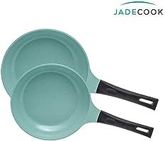 JADE COOK Paquete de 2 sartenes (20 y 24 cm) Cocina SANO, RÁPIDO y FÁCIL. Para cocinar SIN GRASA, fabricadas en aluminio...