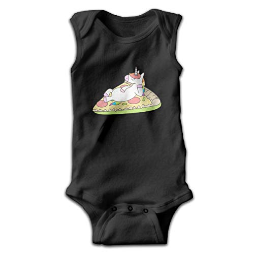 Sahaidak Baby Boys' Girls' Cotton Bodysuits Unicorn Pizza Sleeveless Romper Onesie Jumpsuit