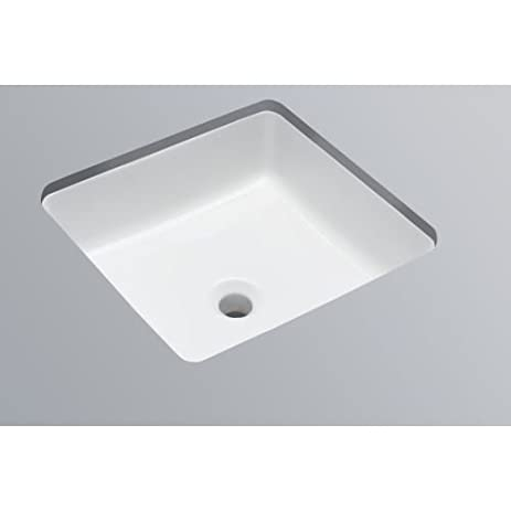 Gentil Mirabelle MIRU1616 16 1/4u0026quot; Square Porcelain Undermount Bathroom Sink  With Concea,