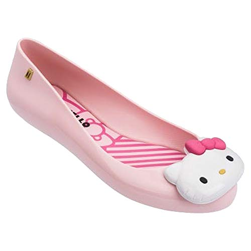 Melissa Womens Space Love + Hello Kitty AD Ballet Flat, Pink, Size 8