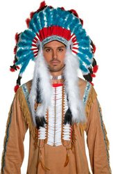 Weste (Western Authentic Indian Headdress Adult)