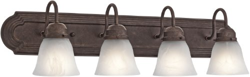 4 Light Tannery Bronze - Kichler 5338TZ Bath 4-Light, Tannery Bronze