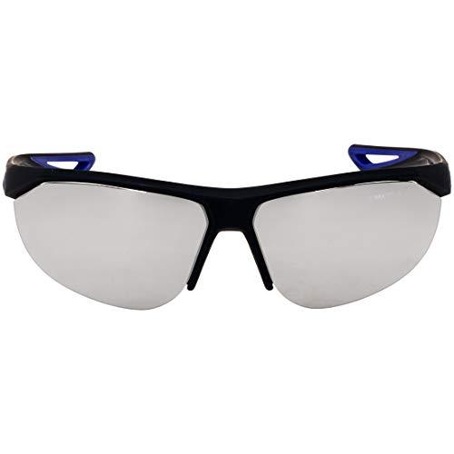 (Nike Plastic Frame Grey Silver Flash Lens Men's Sunglasses)