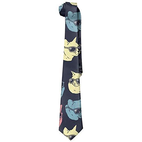 ZOZGETU Necktie, Men's Classic Casual Cool Cats Skinny Silk Tie Necktie Fashion Gift Weddings Gentleman Groom Business