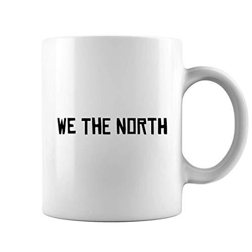 Oz White 11 Fan Mug - We The North Raptor Basketball Mug, Toronto Basketball Fan Coffee Mugs, White 11Oz