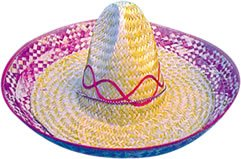 Mexican Straw Sombrero -