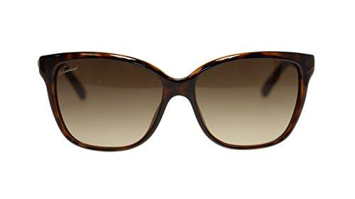 5207046c909 Gucci Women s Sunglasses GG3645 DWJ Havana Brown Gradient Square 56mm  Authentic